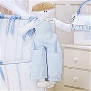 Porta Fraldas Boneco Guto Azul Bebê