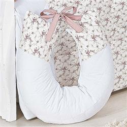 Almofada para Amamentação Charlotte Floral Rosê