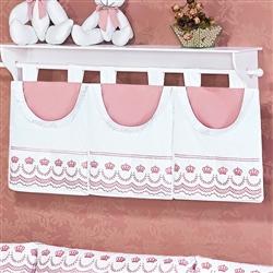 Porta Fraldas Varão Elegance Rosé
