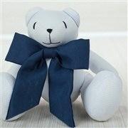 Enfeite Urso P Elegance Marinho