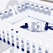 Quarto para Bebê Sem Cama Babá Elegance Marinho