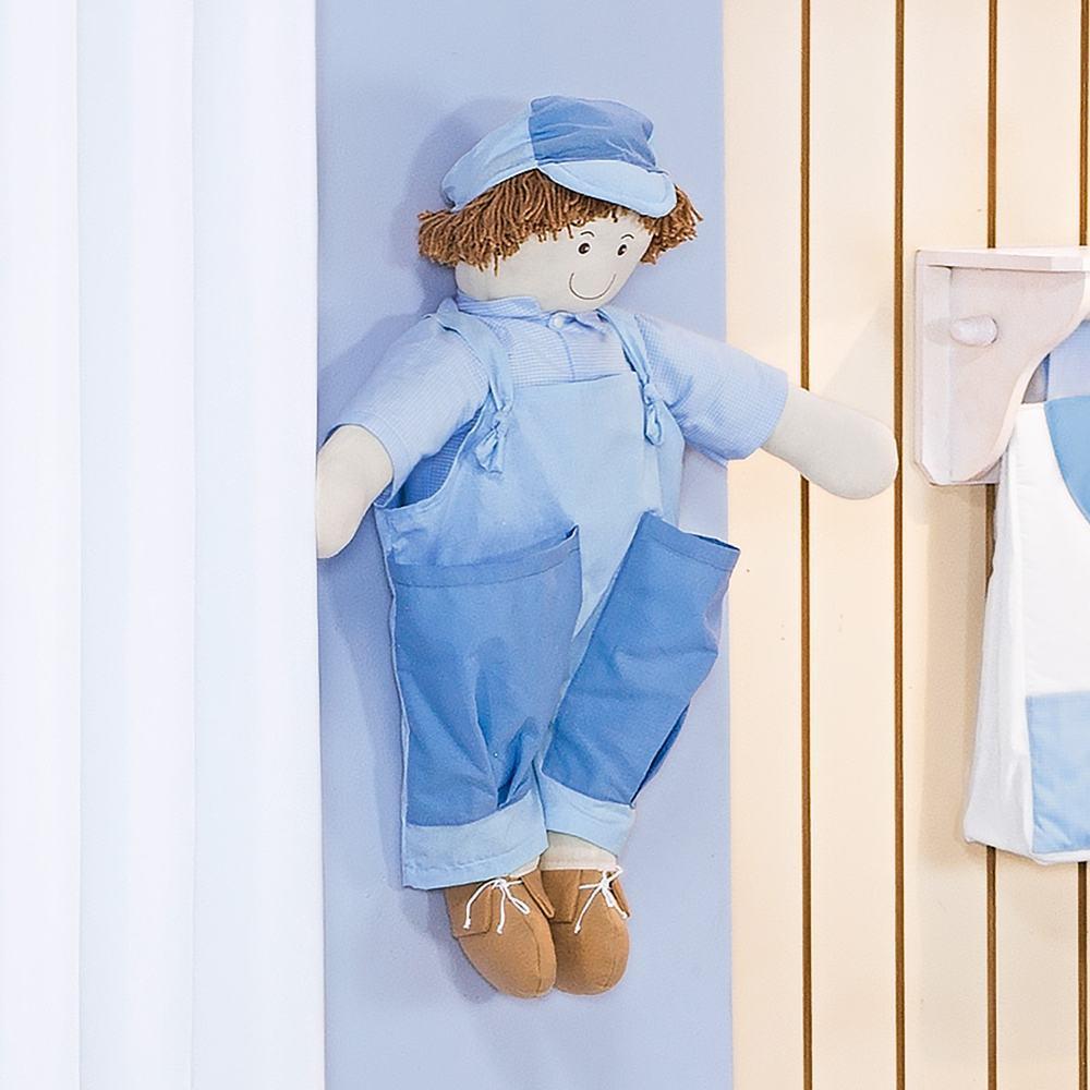 Porta Fraldas Boneco Classic Azul