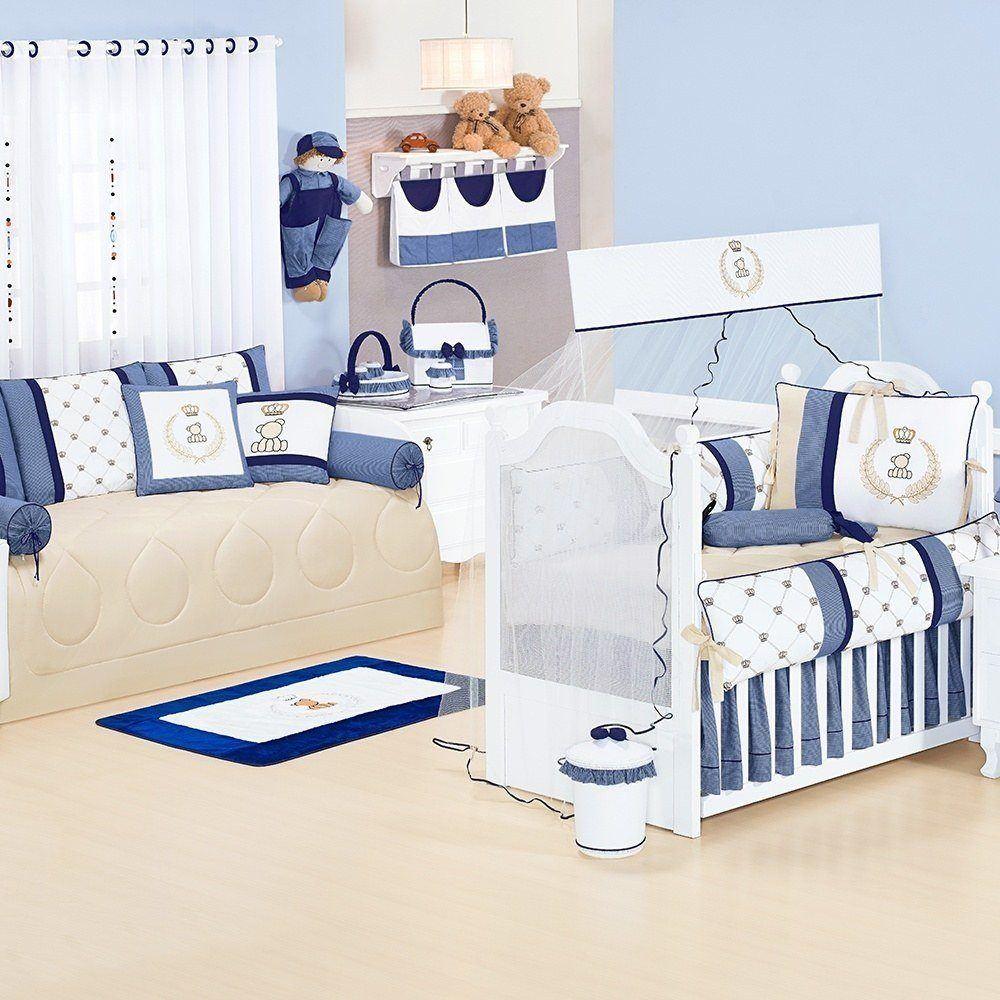 Quarto para Bebê Sem Cama Babá Classic Marinho