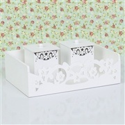Kit Higiene Glamour Floral com Pérolas
