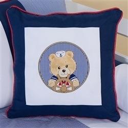 Almofada Bordada Urso Náutico