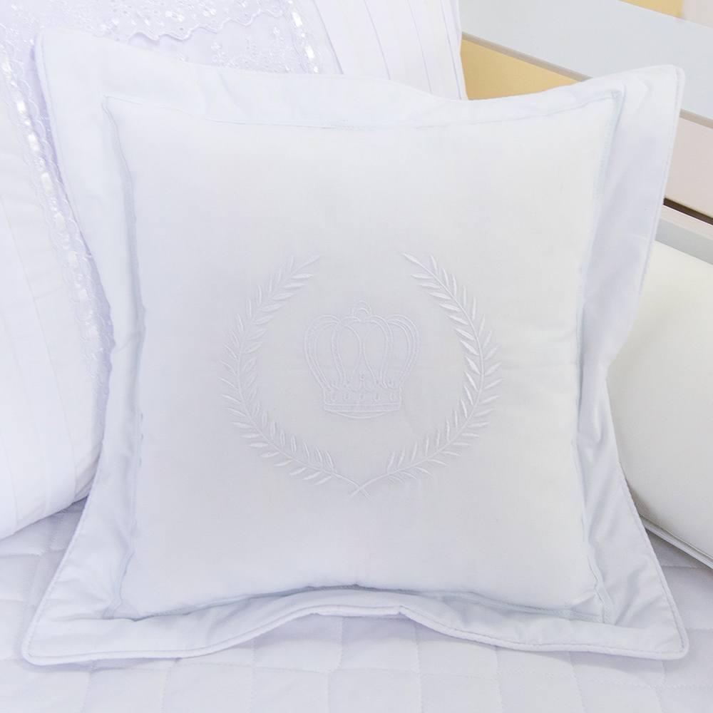 Almofada Decorativa Coroa Doçura Branco