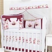 Quarto para Bebê sem Cama Babá Sophia Vinho