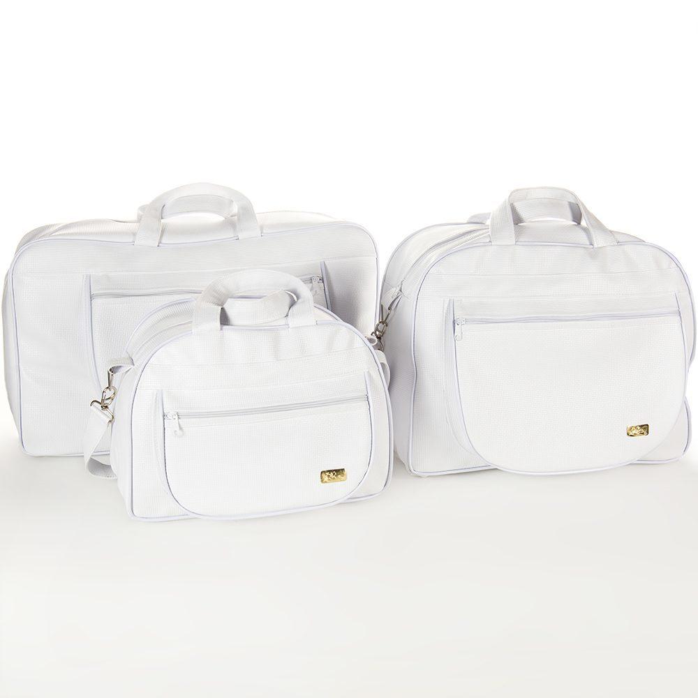 Conjunto de Bolsas Maternidade Doçura Branco