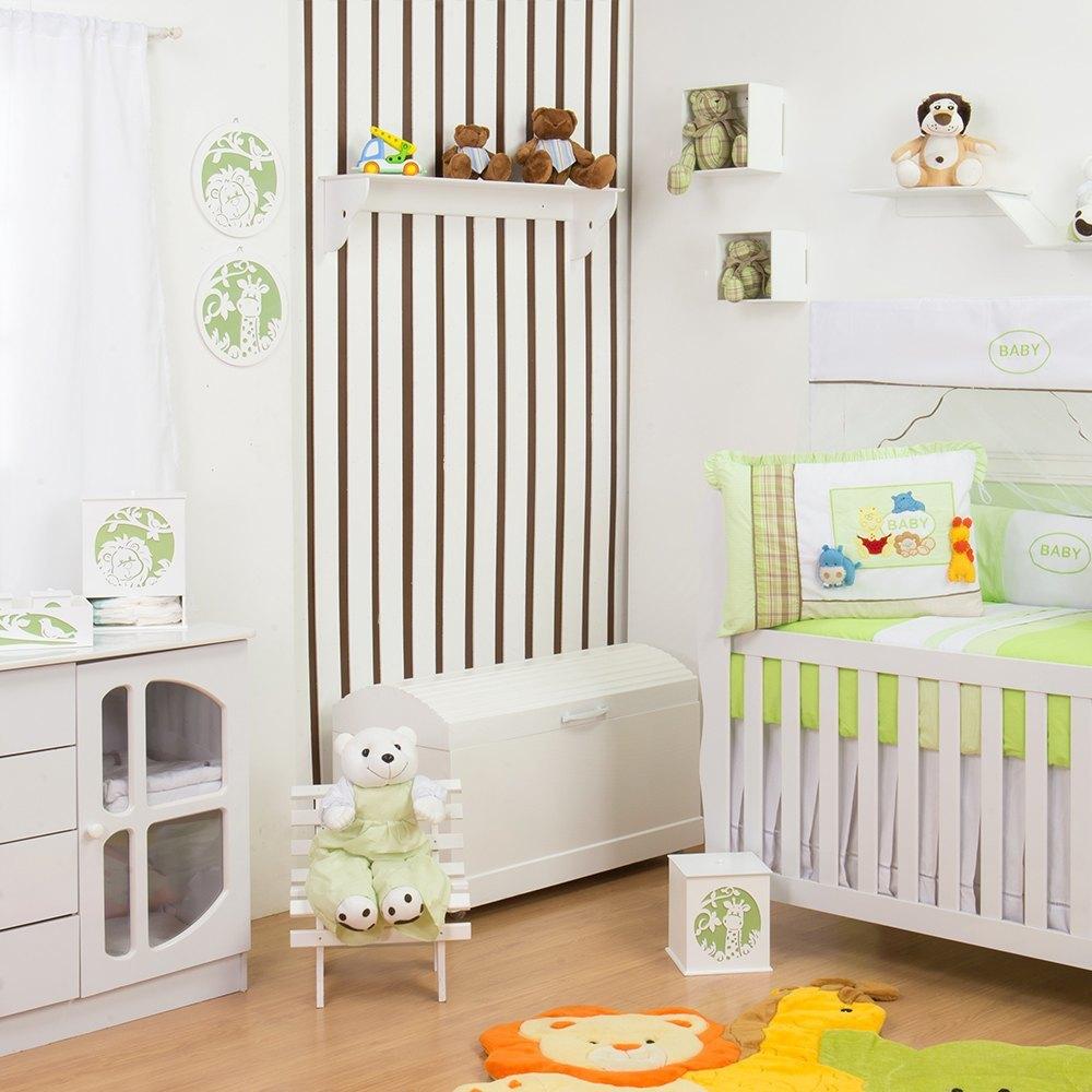 Quarto para Bebê sem Cama Babá Selva