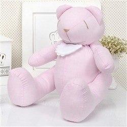 Urso M Chambrê Rosa com Babador