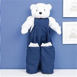 Porta Fraldas Urso Teddy Marinho