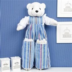 Porta Fraldas Urso Teddy Listrado