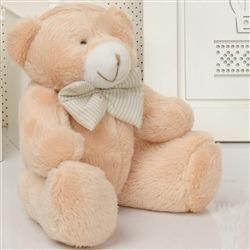 Urso M Caramelo com Gravata