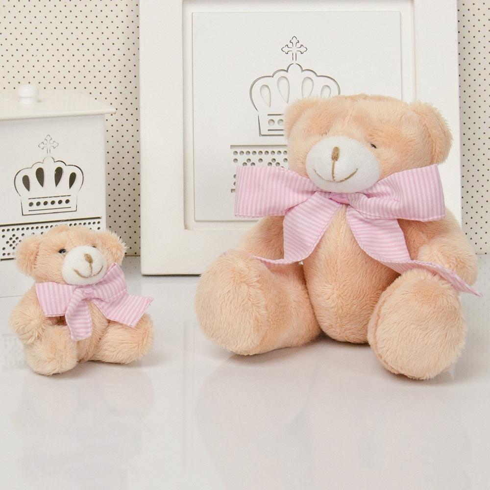Família Urso Caramelo com Laço