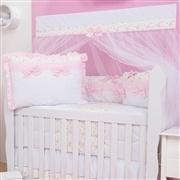 Quarto para Bebê sem Cama Babá Charlotte Floral Rosa