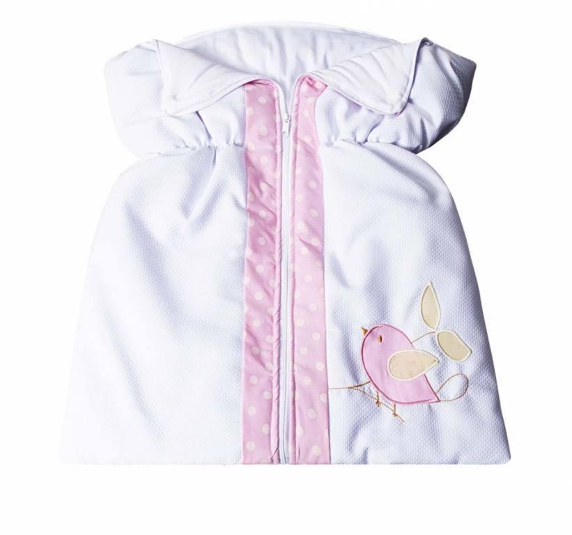 Porta Bebê Passarinhos Rosa