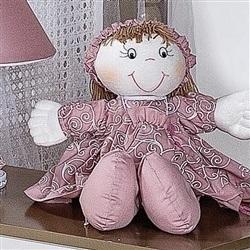 Boneca Porta Chupeta Flor de Liz