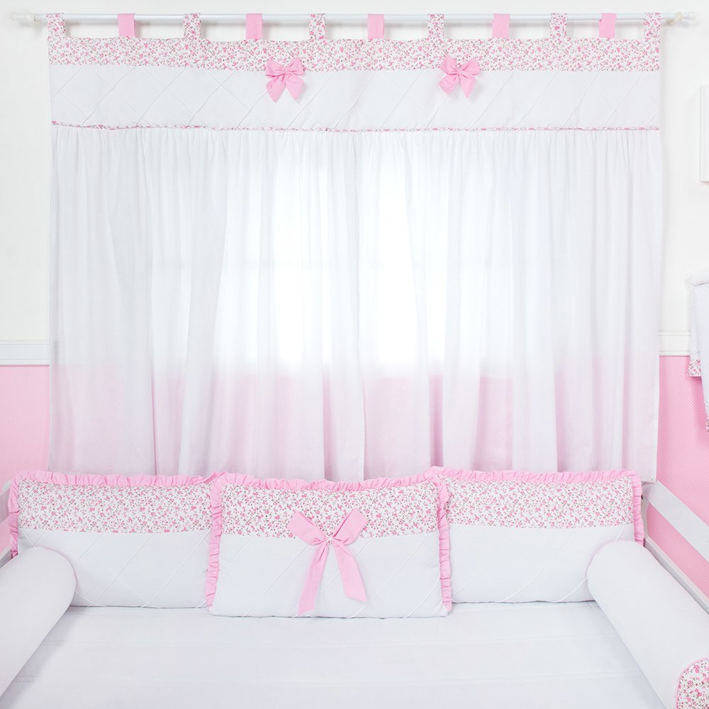 Cortina Laço Rosa