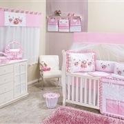 Quarto para Bebê sem Cama Babá Menina Vasinho Rosa