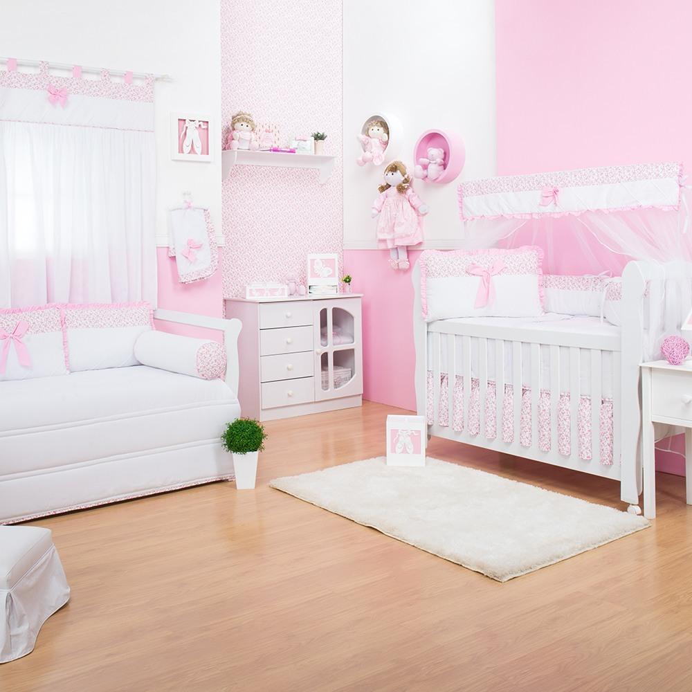 Quarto para Bebê Laço Rosa