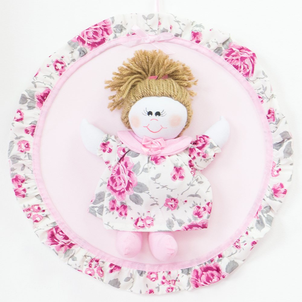 Enfeite de Porta Elegance Rosa