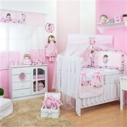 Quarto para Bebê sem Cama Babá Elegance Rosa