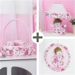 Kit Acessórios Elegance Rosa