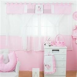 Cortina Ursa Realeza Rosa