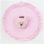 Enfeite de Porta Ursa Realeza Rosa
