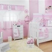 Quarto para Bebê sem Cama Babá Ursa Realeza Rosa