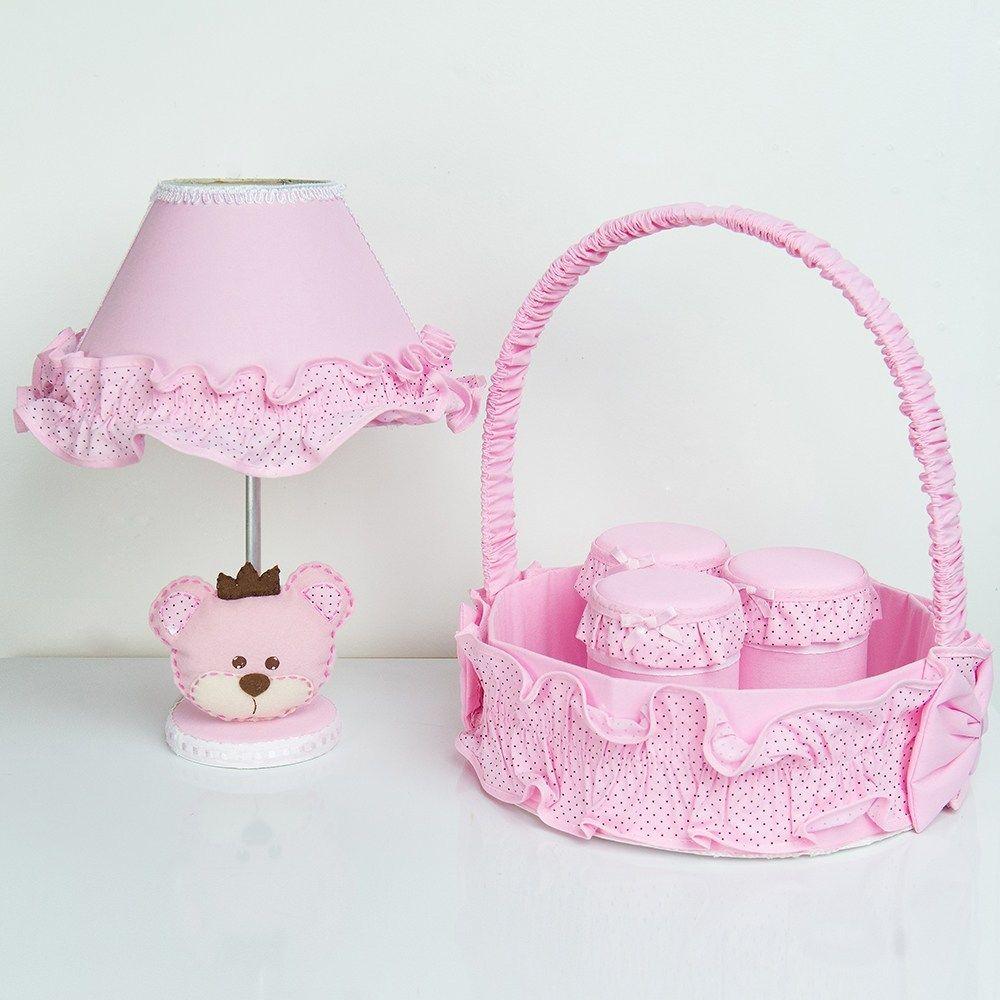 Kit Acessórios Ursa Realeza Rosa