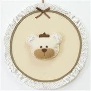 Quarto para Bebê sem Cama Babá Urso Realeza Bege