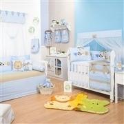 Quarto para Bebê Bichos da Selva Azul