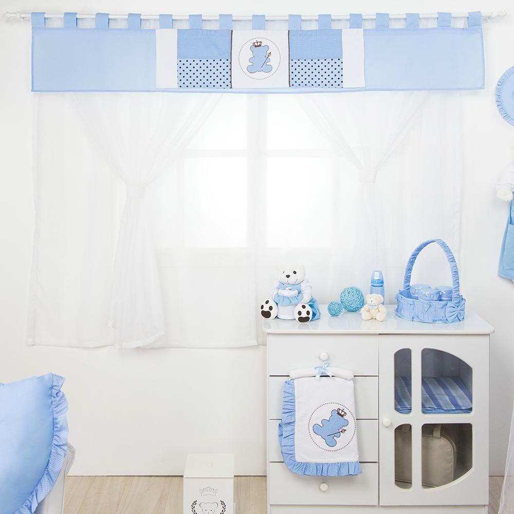 Cortina Urso Realeza Azul