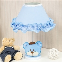 Abajur Urso Realeza Azul