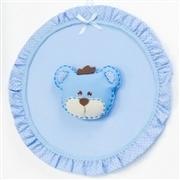 Enfeite de Porta Urso Realeza Azul