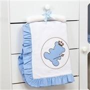 Quarto para Bebê sem Cama Babá Urso Realeza Azul