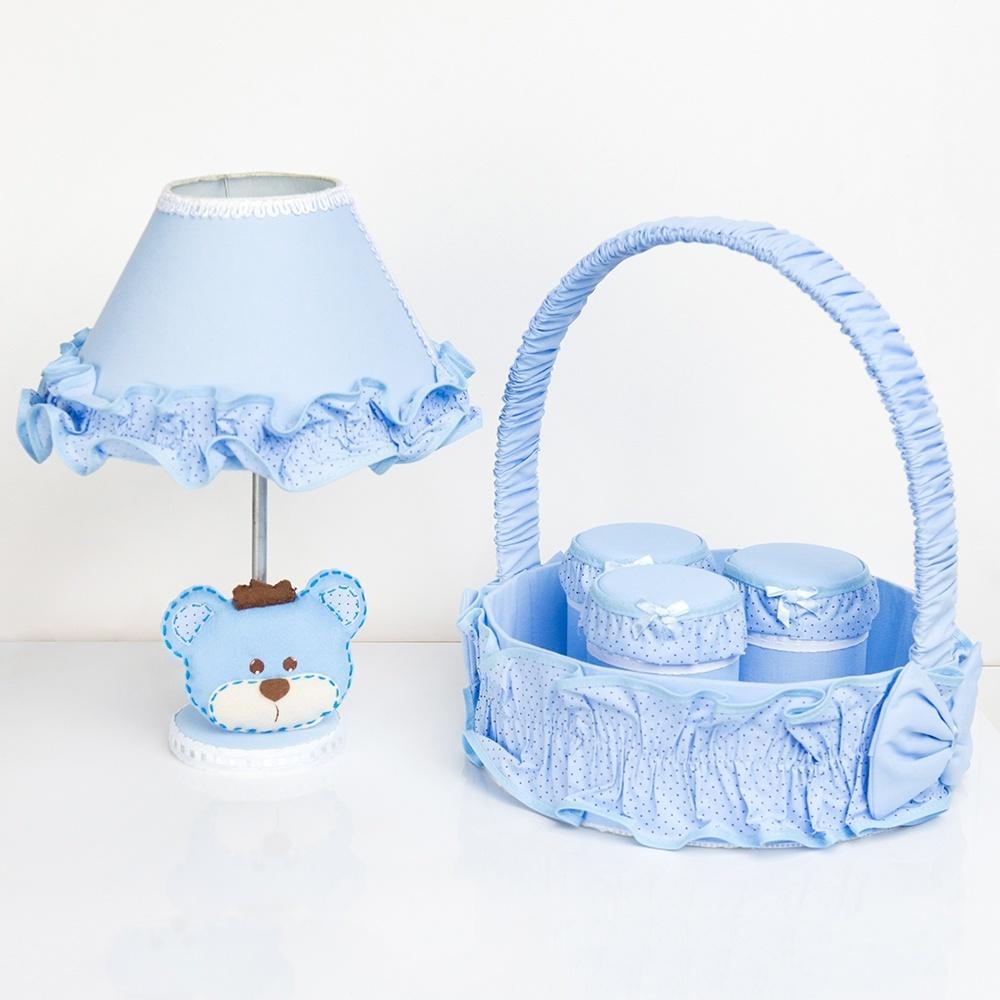 Kit Acessórios Urso Realeza Azul