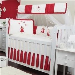 Kit Berço Camponesa Vermelha