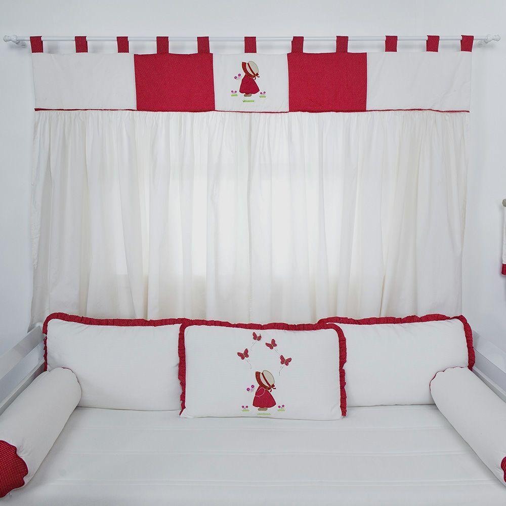Cortina Camponesa Vermelha