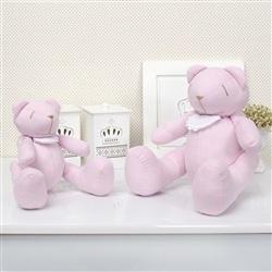 Ursas Chambrê Rosa com Babador