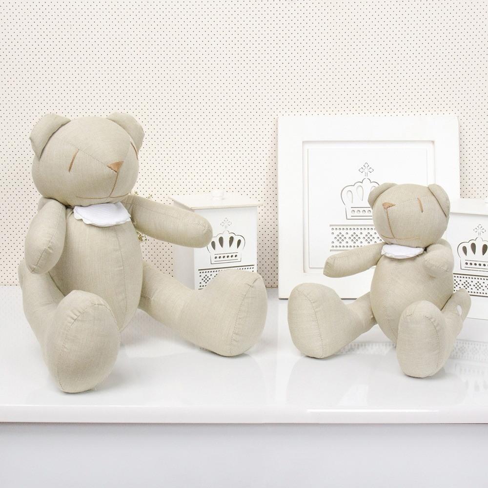 Ursos Chambrê Bege com Babador