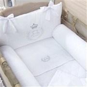 Kit Berço Completo Desmontável Realeza Branco 1,30m x 80cm
