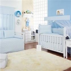 Quarto para Bebê Ponto Ajour Filó Azul