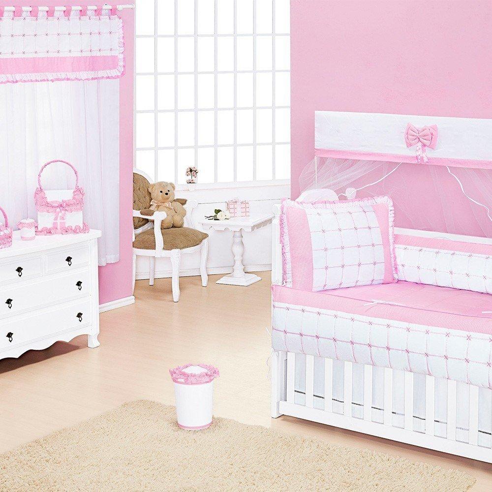 Quarto para Bebê sem Cama Babá Encanto Rosa