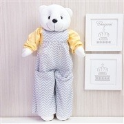 Ursinhos Porta Treco Teddy Chevron Amarelo