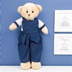 Urso Porta Fraldas Teddy Marinho