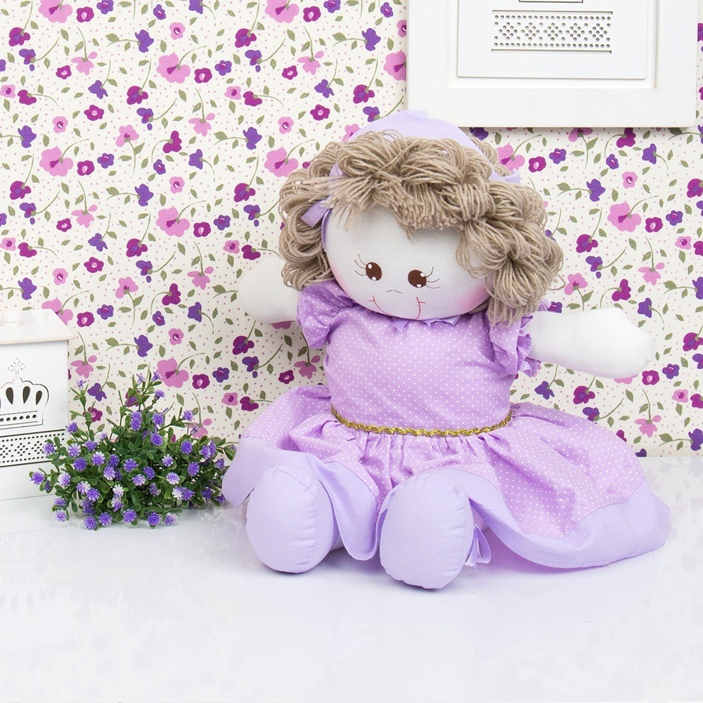 Boneca Princesa Laura Lilás