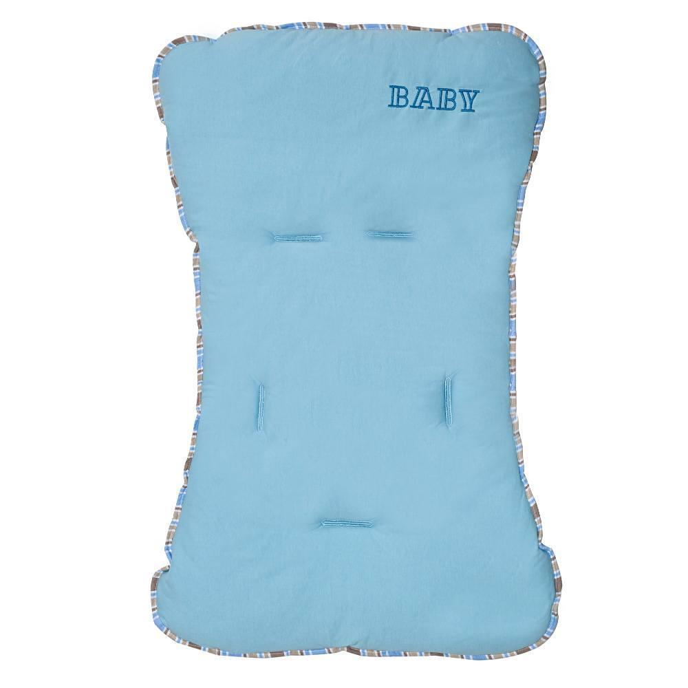 Capa de Carrinho Malha Baby Azul