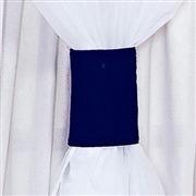 Cortina Coroa Marinho e Branco